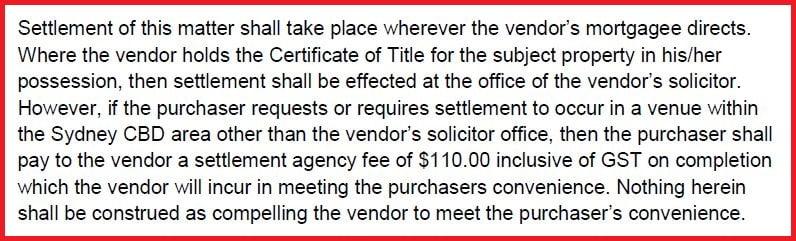 Settlement Venue
